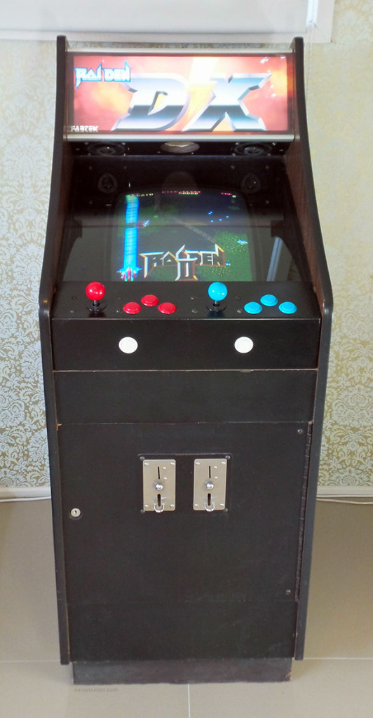 Lowboy arcade cabinet - front view