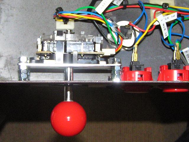 Lowboy arcade cabinet - Joystick low