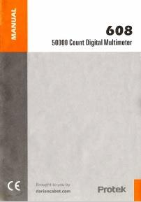 Protek 608 manual cover