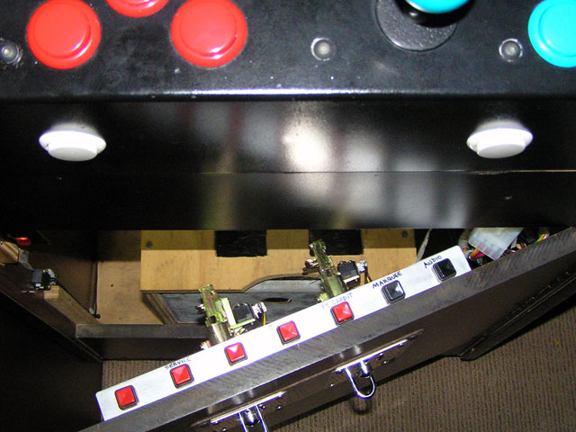 Lowboy arcade cabinet - Service buttons